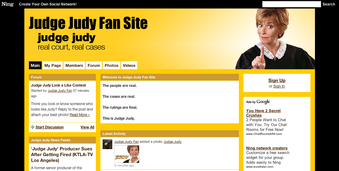 Judge Judy Fan Site